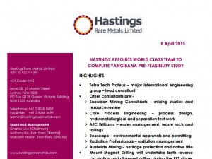 Hastings Rare Earth Process Engineering