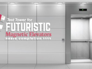 Test Tower for Futuristic Magnetic Elevators Nears Completion