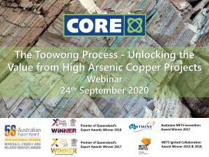 Core Webinar Series – Unlocking the Value from High Arsenic Concentrates